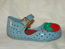 Mini Melissa girls shoes sz 5 baby toddler Mary Janes Blue /red Strawberry Cute