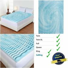 3 Inch Cooling Gel Foam Mattress Topper Pad Bed Cushion 5 Zone Orthopedic Firm