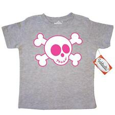 Inktastic Pink Skull Toddler T-Shirt Pirate And Crossbones Funny Kids Girls Gift