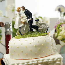 Bicycle Bride and Groom Porcelain Wedding Cake Top Topper Q16464