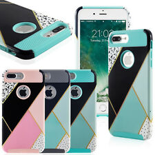 For Apple iPhone 7/7 Plus Thin Cover Case Shockproof Hybrid Rugged Rubber Hard