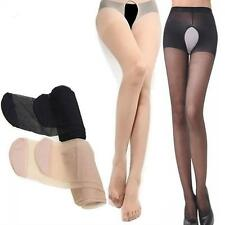 Sheer Crotchless Tights Pantyhose Silk Stockings Open Crotch