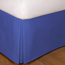 Luxury 1 Qty Bed Skirt 1000 TC Egyptian Cotton Egyptian Blue Solid Drop 15 Inch