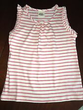 NWT 6/7  7/8  9/10 or 11/12  Mini Boden Pink Striped Top w/ Flutter Sleeve