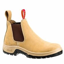 Rossi Boots ELASTIC SIDED STEEL CAP WORK BOOTS, WHEAT *Aust Made- Size 7, 8 Or 9