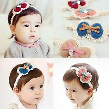 Toddler Kids Girls Baby Bowknot Lace Headband Hair Band Headwear Accessories