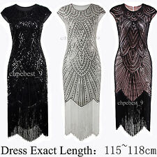Vintage Style 1920s Flapper Dress Gatsby Womens Prom Bridesmaids Party Dresses