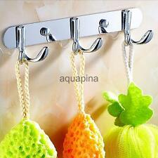 Metal Bathroom Bedroom Kitchen Wall Mounted Bag Hanger Coat Towel Hook Cap Rack