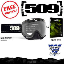 509 Night Vision Aviator Snowmobile Goggles Clear Lens + Free DVD