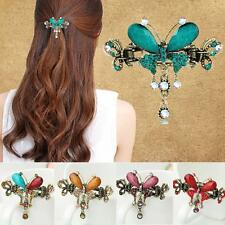 Rhinestone Court Bow Knot Hair Clip Hairpin  Crystal Butterfly