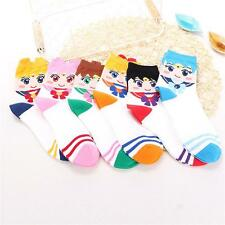 Pair Lovely Warm Winter Socks Sailor Moon Cotton Stocking 3D Cartoon Pattern