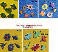 Assorted Flowers Mix - HANDMADE, CERAMIC MOSAIC TILES ( Pick you Group ) #24
