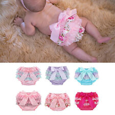 Baby Infant Girl Bottoms Lace Ruffle Bloomer Nappy Underwear Panty Diaper Cover