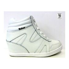 NEW  Ladies Wedge White Sneaker_RAB 15235