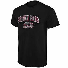 Southern Illinois Salukis Black Mid Size Arch Over Logo T-Shirt