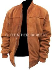 Men's Fashion Bomber Style Suede Leather High Quality Jacket All Sizes Xs-5xl