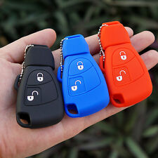 For Mercedes Benz B C E ML S CLK CL 2 buttons Silicone Rubber Key Fob Case Cover