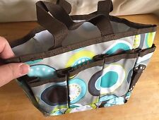 THIRTY-ONE*Canvas Utility Organizer Tote*Bag*Small*Cute Dot Pattern*NWOT*Crafts*