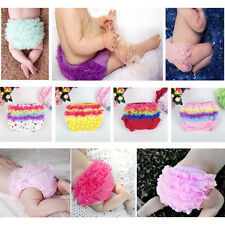 Toddler Baby Girls Ruffle PP Pants Bow Bloomers Diaper Nappy Cover Panties 3-24M