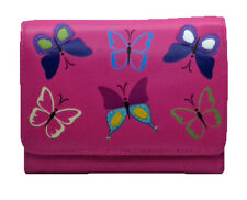 Mala Leather Medium Flapover Purse Style Mimosa Butterfly design RFID 328583 New