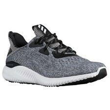 ADIDAS Men's AlphaBounce EM Running Shoes Sneakers Black White Grey Knit Mesh