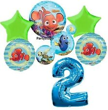 DISNEY NEMO 2ND BIRTHDAY PARTY BALLOONS BOUQUET SUPPLIES DECORATIONS DORY