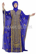 DUBAI TAKSHITA GEORGETTE ARI WORK HAND EMBROIDERY JILBAB ARABIAN DRESS 5805