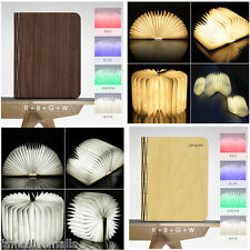 New Wooden Foldable LED Night Light Booklight Home Offfice Study Room Lamp Gift