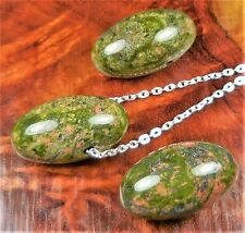 Unakite Necklace Jasper Pendant Gemstone Bead W4 Healing Crystals And Stones