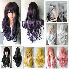11 Colors Women Full Wig Long Curly Anime Cosplay Fancy Dress Wig 70cm Fashion