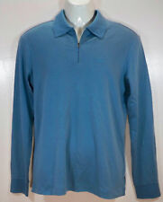 ARMANI JEANS Mens Polo Shirt Long Sleeves Light Blue Soft Cotton size XS NEW NWT