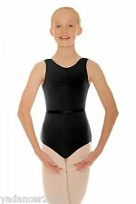Roch Valley Sleeveless Tank Leotard CSheree COTTON Lycra Black Dance RAD Uniform