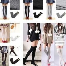 5 Colors Sexy Soft Thigh High Socks Stockings Cotton Over The Knee