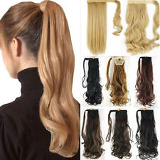 Blonde Clip In Hair Extension Pony Tail Wrap Around Ponytail as human hair C15