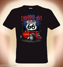 Gearhead, Biker T-Shirt: Route 66 & Hot Rod ( up to size 5XL possible