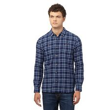 St George By Duffer Mens Navy Checked Regular Fit Shirt From Debenhams