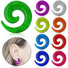 1 Size / Set Acrylic Snail Spiral Ear Taper Expander Piercing Tunnel Stretcher