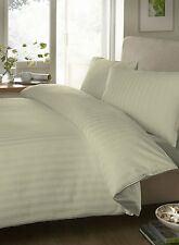 Royal Hotel 1000/1500 TC Ivory Striped 100%Cotton Duvet/Sheet Expedited Shipping