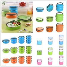 Stainless Steel Thermal Insulated Lunch Box Bento Food Picnic Container Assorted