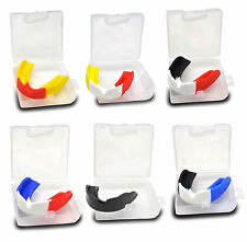 MULTICOLOR MOUTH GUARD GUM SHIELD SENIOR JUNIOR SPORTS RUGBY MARTIAL ART BOXING