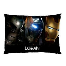 Personalised Ironman Large Decorative Pillowcases Gifts Kids Children's