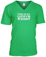 This Is My Lucky Shirt Clovers St Patricks Day Proud Irish Pride Mens V-neck
