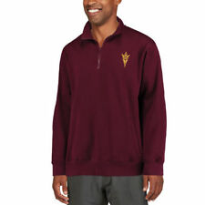 Stadium Athletic Arizona State Sun Devils Maroon Logo Quarter-Zip Sweatshirt