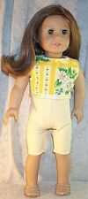 Doll Clothes fit American Girl 18 inch 2 pcs Leggings Capri Top White Yellow