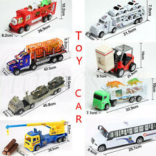 1:36 Alloy Toy Cars Pull Back Car Model Double Inertia Slide Trailer Toy 8 Kinds