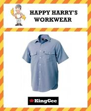 King Gee Short Sleeve Oxford Weave Shirt K04270 NEW WITH TAGS!