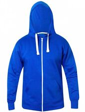 Mens Plain Zip Up Workwear Casual Hoodie Winter Hooded Sweatshirt Top Size XXXL