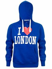 Mens I Love London Print Fleece Hooded Sweatshirt Casual Pullover Hoodie Medium