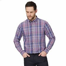 The Collection Mens Purple Checked Print Classic Fit Shirt From Debenhams