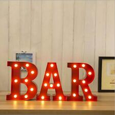 6'' Rustic BAR Club LED Marquee Letter Alphabet Lights Sign Wedding Party Decor